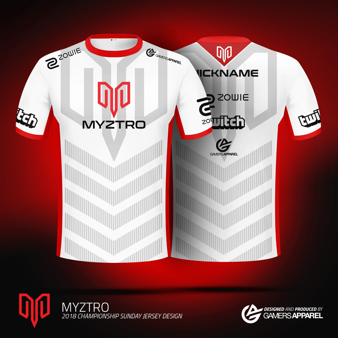 2018 Roster Shirts and Gamers Apparel Announced as Myztro Sponsor