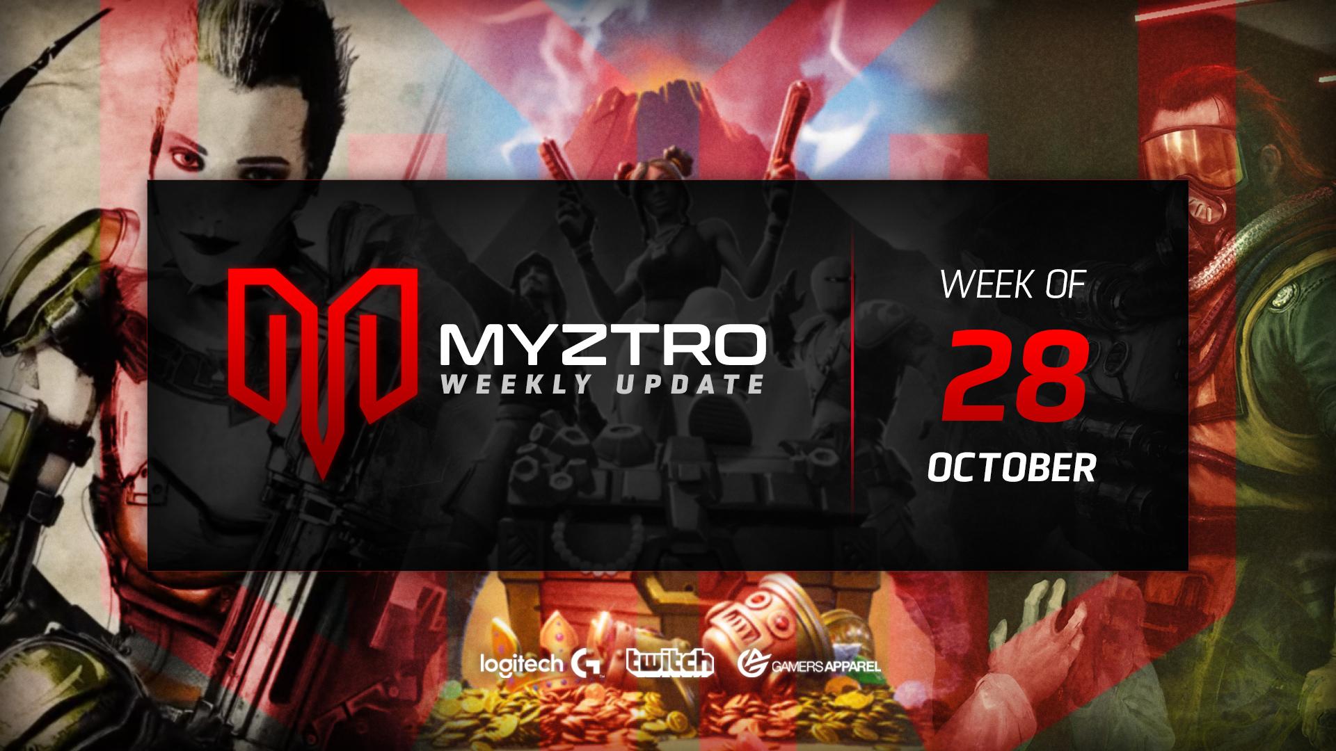 Myztro Weekly Update 4: 10/28/19