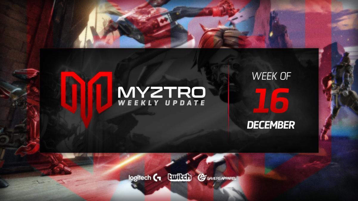 Myztro Weekly Update 8: 12/16/19